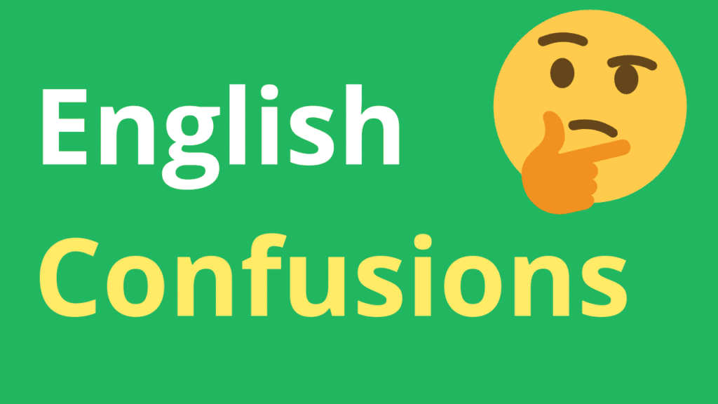English confusions